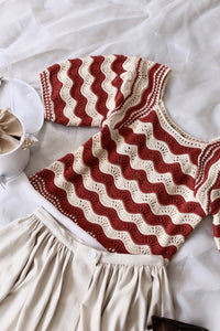 Crochet striped