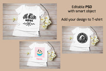 Load image into Gallery viewer, T-shirt mockup bundle. 12 colors t-shirt JPEG and PSD with Smart object - Tasipasart