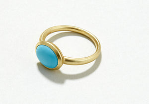 Jane Austen Replica Turquoise Gold Ring