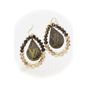 Upcycled LV Earrings