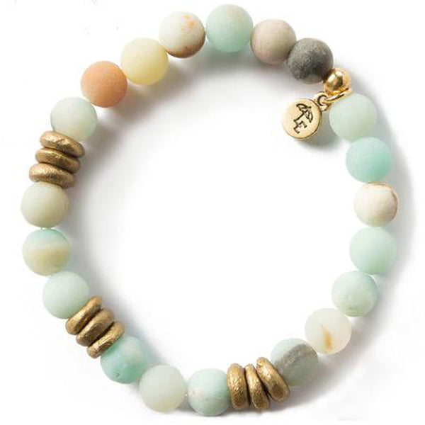 Lenny and Eva Amazonite Gemstone Bracelet