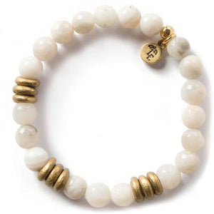 Lenny and Eva Gray Agate Gemstone Bracelet