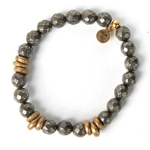 Lenny and Eva - Pyrite Gemstone Bracelet
