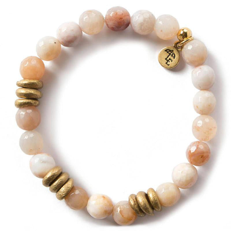 Lenny and Eva Rainbow Agate Gemstone Bracelet