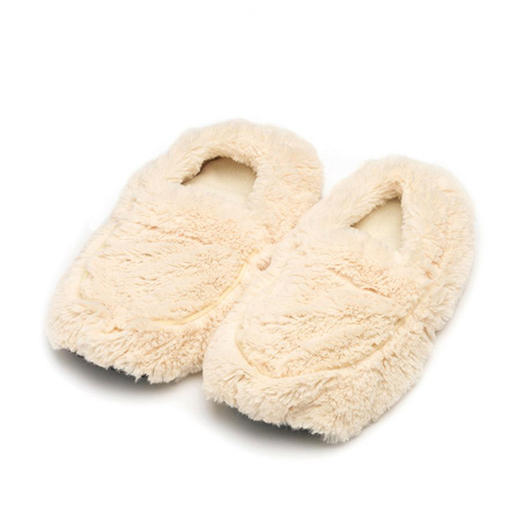 warmies slippers in cream