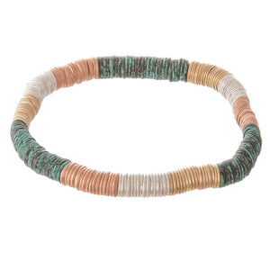 Tri-Blend Metal Stretch Bracelet