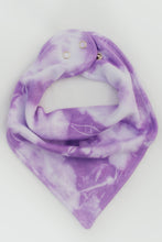 Load image into Gallery viewer, PURPLE SHIBORI BANDANA BIB