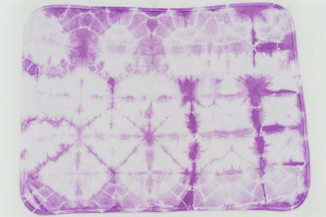 PURPLE SHIBORI RECEIVING BLANKET