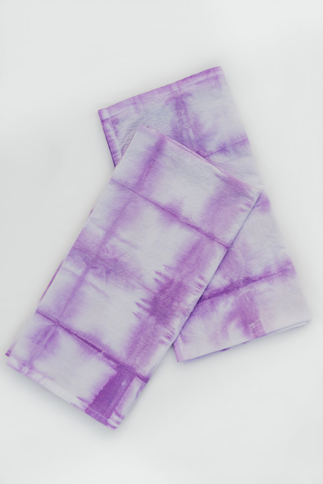 PURPLE SHIBORI DISH TOWEL SET OF 2