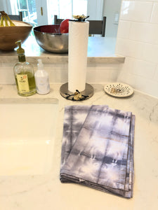 GREY SHIBORI DISH TOWEL SET OF 2