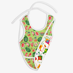 Melon Splash and Coloured Skies | Waterproof Cloth Bib | SuperBottoms