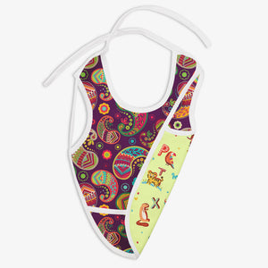 A for Animal And Utsav - Waterproof Cloth Bib