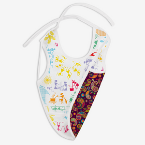White Warli and Utsav - Waterproof Cloth Bib