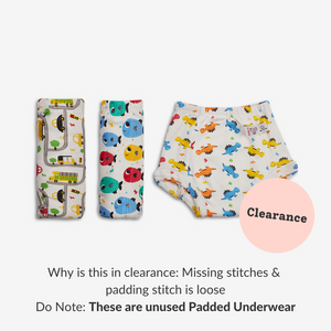 Padded Underwear with loose/missing stitching