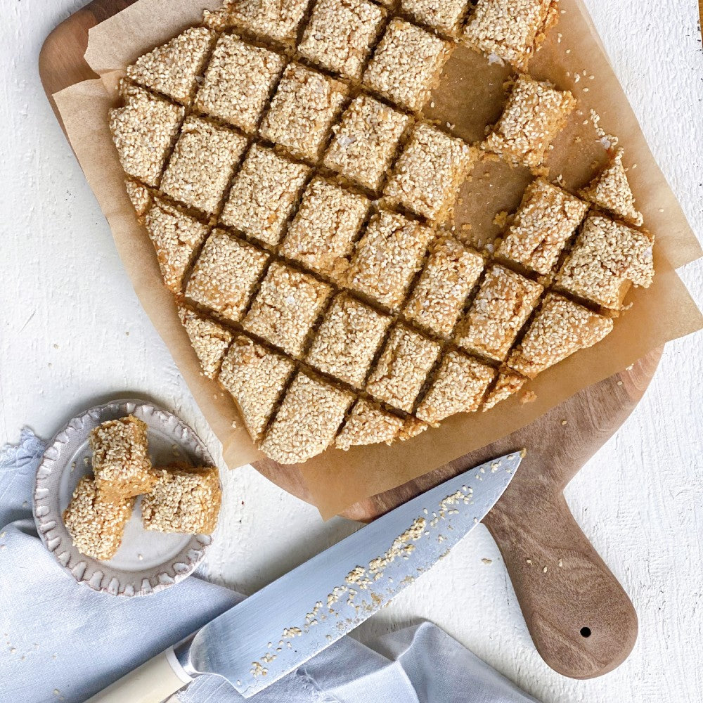 Salted Halva Blondies Recipe from Claire Saffitz's new book, Dessert Person