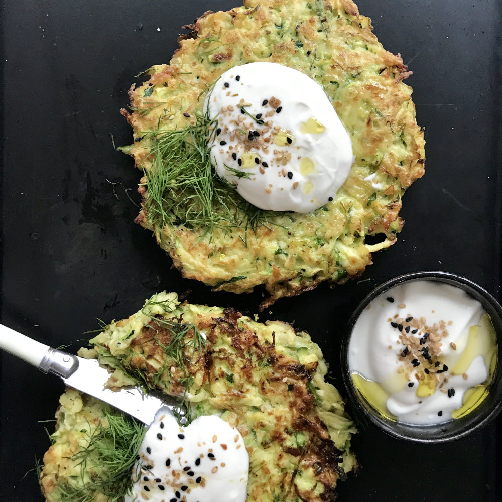 Zucchini Brussels Sprouts Latkes