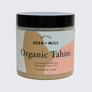 Seed + Mill Organic Tahini. Gluten-free, dairy-free, and vegan. Elevate every salad dressing. Make delicious desserts.