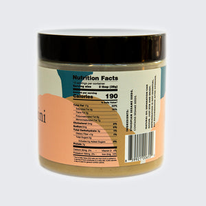 Seed + Mill Organic Tahini. Gluten-free, dairy-free, and vegan. Nutrition details: 7g Protein, 10% DV iron, 190 calories per serving. No sugar, low carbohydrates. Packed with Omega-fats.
