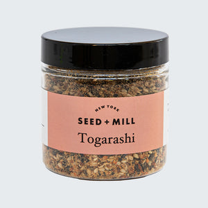 Seed + Mill Togarashi Spice Blend. Sprinkle on popcorn, stir-fry, anything you'd like!