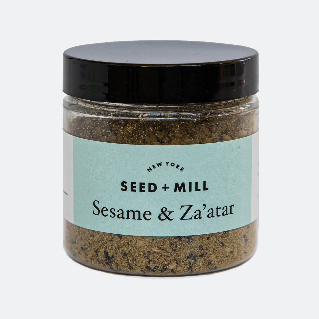 Seed + Mill Sesame & Za'atar Spice blend. Shake over roasted veggies, salad dressings, popcorn, pita bread, dips.