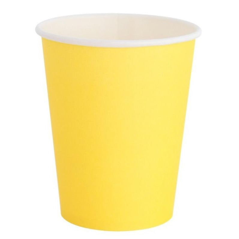 "Yellow ""Happy"" Cups"