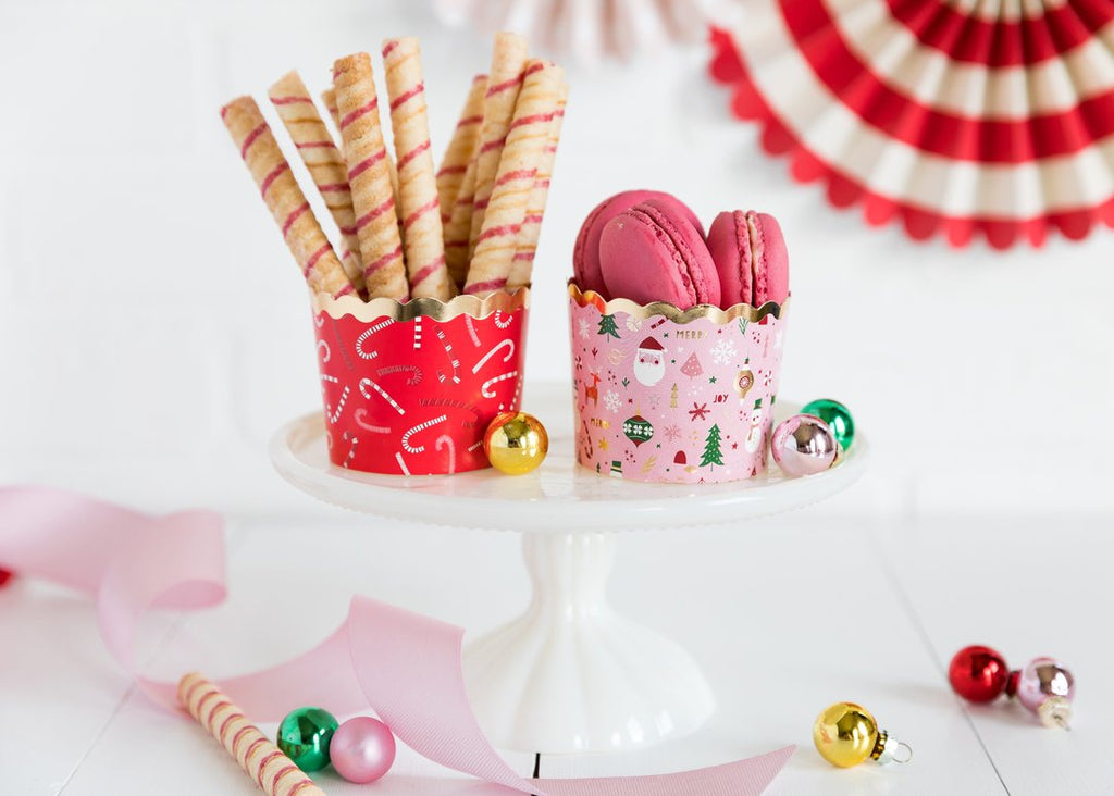 Foiled Christmas Icon Cupcake Baking Cups