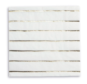 Gold Metallic Stripe Large Napkin
