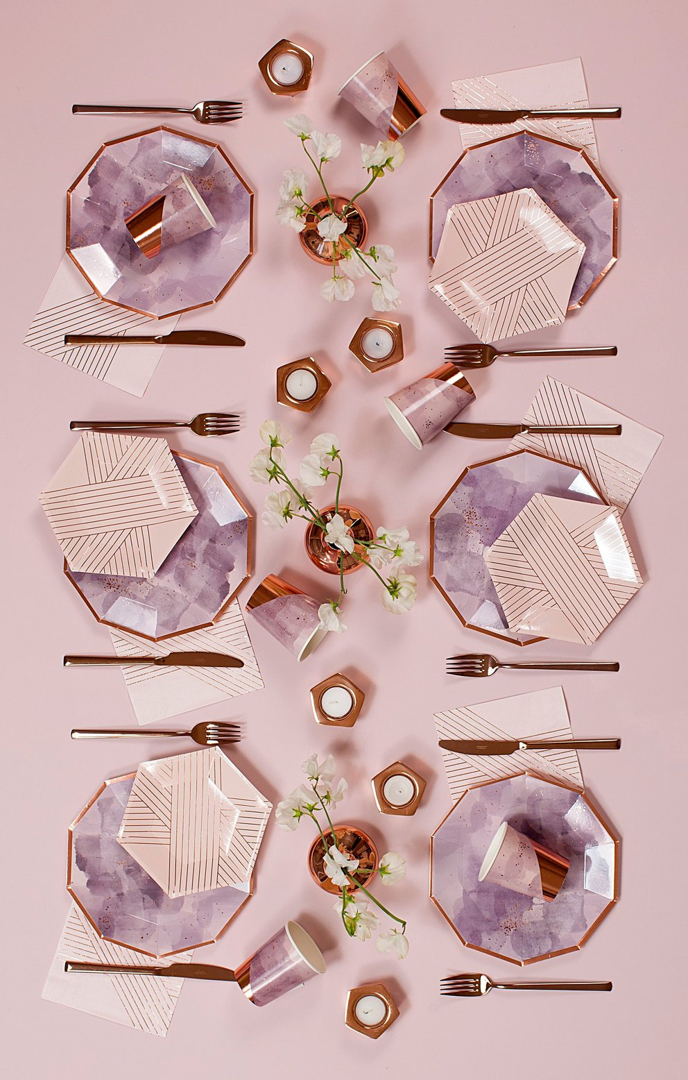 Pale Pink Striped Cocktail Napkin
