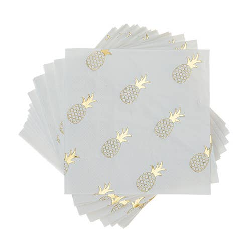 Gold Pineapple Cocktail Napkins