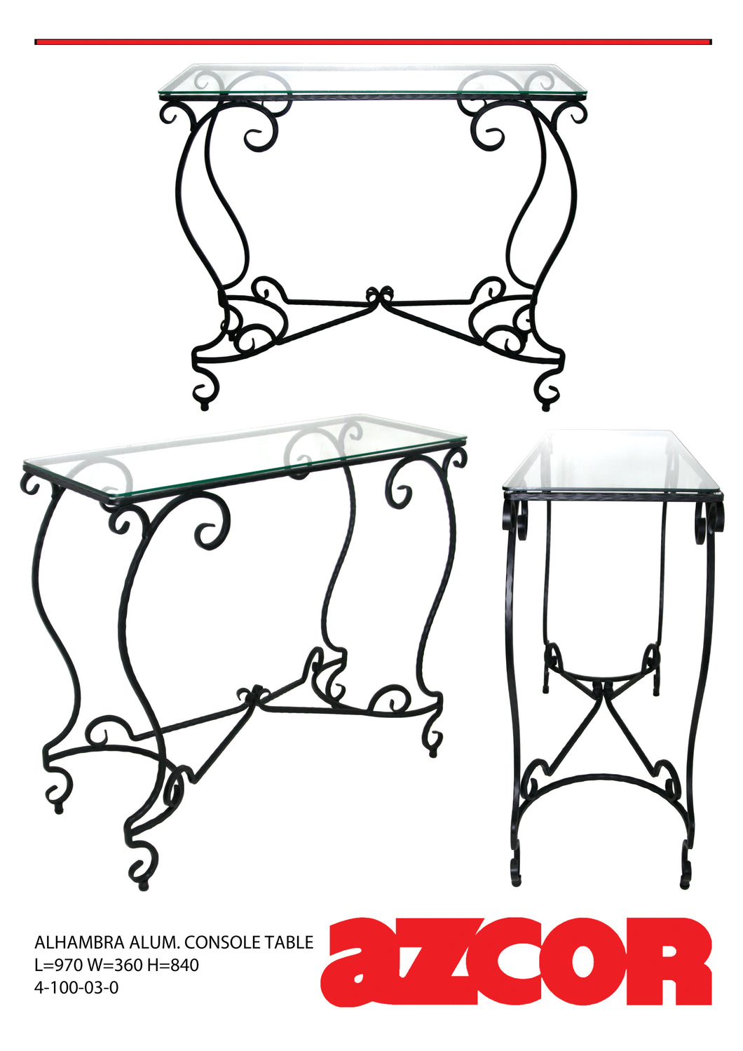 Alhambra Aluminum Console Table