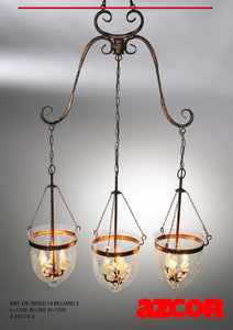 Antique Oil Aivilo Chandelier Billard 3