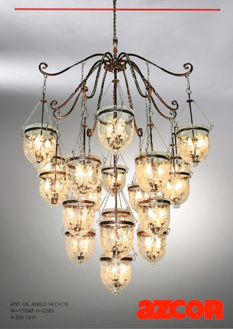 Antique Oil Aivilo Chandelier 19