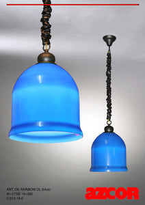 Antique Oil Rainbow Drop Light Single