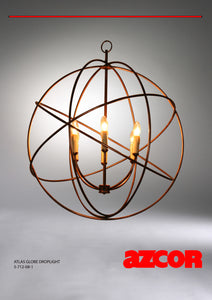 Atlas Globe Drop Light