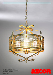 Aviza Brass Lantern Drop Light (L)