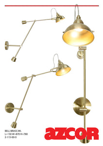 Bell Brass Wall Light