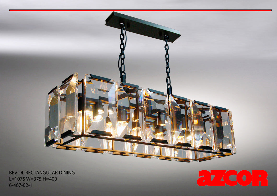 Bev Rectangular Dining Drop Light