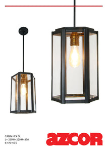 Cabin Drop Light Hexagonal