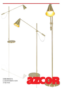 Cone Brass Floor Lamp