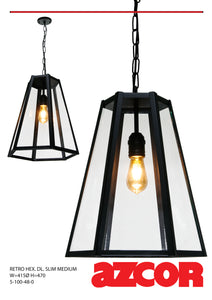 Retro Hexagonal Slim Drop Light Medium