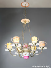 Load image into Gallery viewer, Teacup Chandelier 6