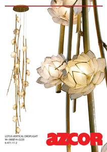 Lotus Capiz Vertical Drop Light