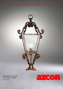 Merideano Square Tapered Gate Lamp Large