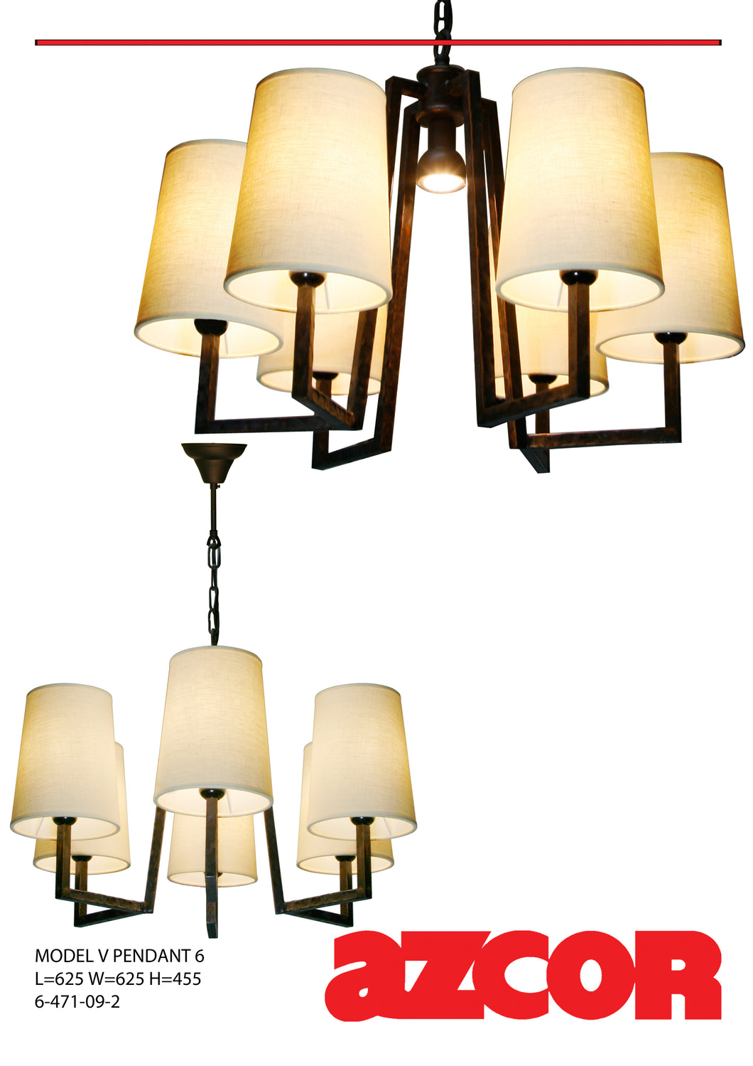 Model V Pendant 6 Light