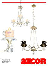 Load image into Gallery viewer, Teacup Chandelier 3
