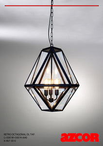 Retro Octagonal Tappered Drop Light