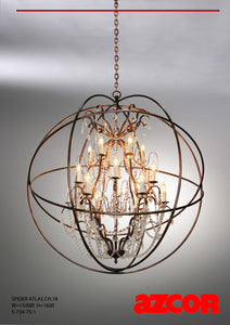 Spider Atlas Chandelier 18