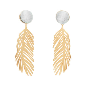 Cooper Palm Earrings