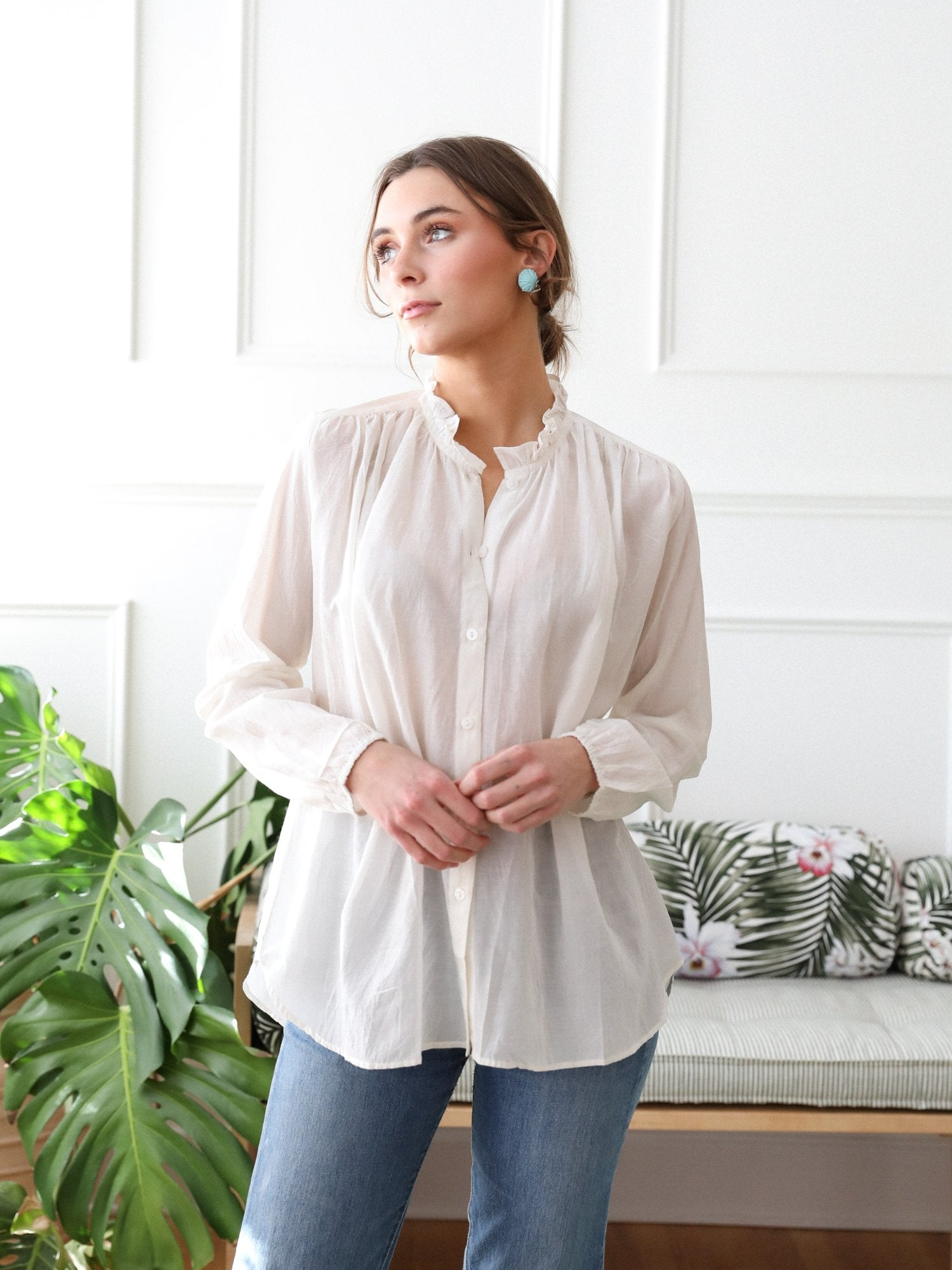Francesca Top in Pearl