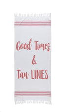 "Load image into Gallery viewer, Beach Towel + Bag Set – ""Good Times & Tan Lines"""